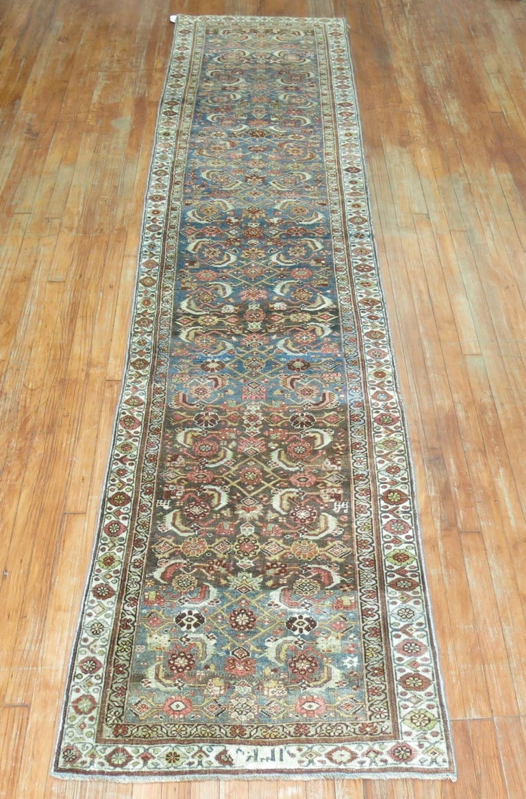 Early 20th century Persian Bidjar rug in earth tones.