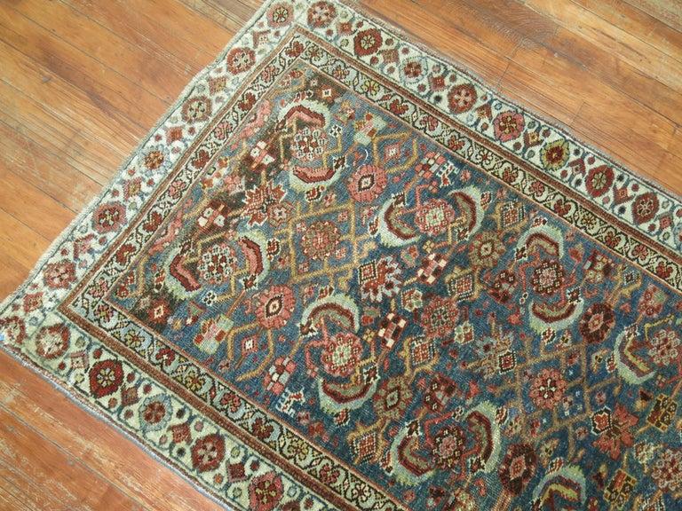 Hand-Knotted Persian Bidjar Runner For Sale