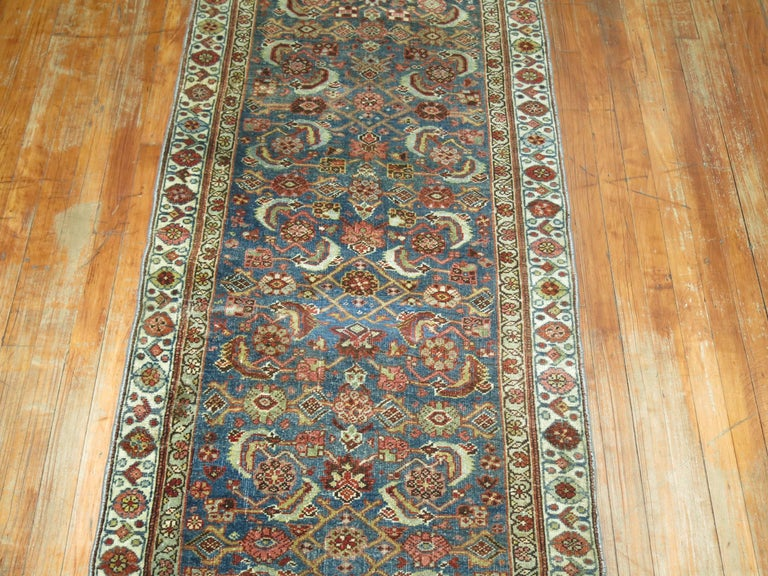 Persian Bidjar Runner In Good Condition For Sale In New York, NY