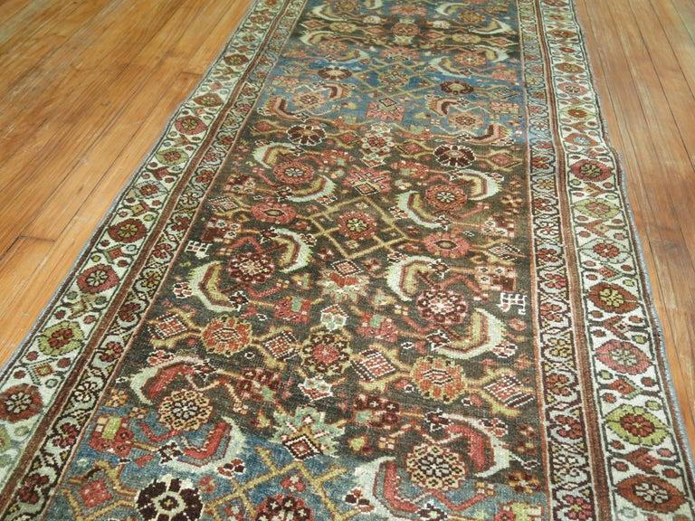 Wool Persian Bidjar Runner For Sale