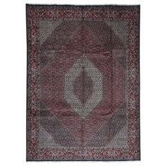 Persian Bijar 300 Kpsi 100 Percent Wool Hand Knotted Oriental Rug