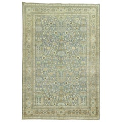 Persian Blue Green Meshed Antique Rug