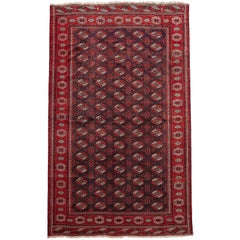 Persian Bokhara Turkoman Handwoven Rug