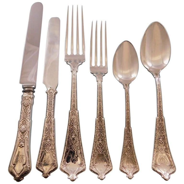 Persian by Tiffany Sterling Silver Flatware Set of Service 92 Pieces For Sale