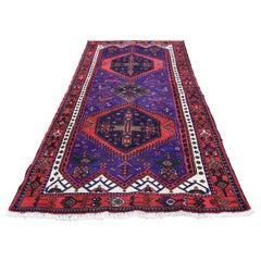 Persian Hamadan Full Pile Hand Knotted Wide Runner Oriental Rug