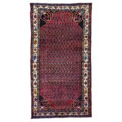 Persian Hamadan with Paisley Design Wide Runner Oriental Rug