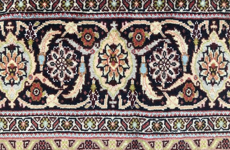 Persian Hand Knotted Fish Design Bijar Bidjar Rug For Sale 4