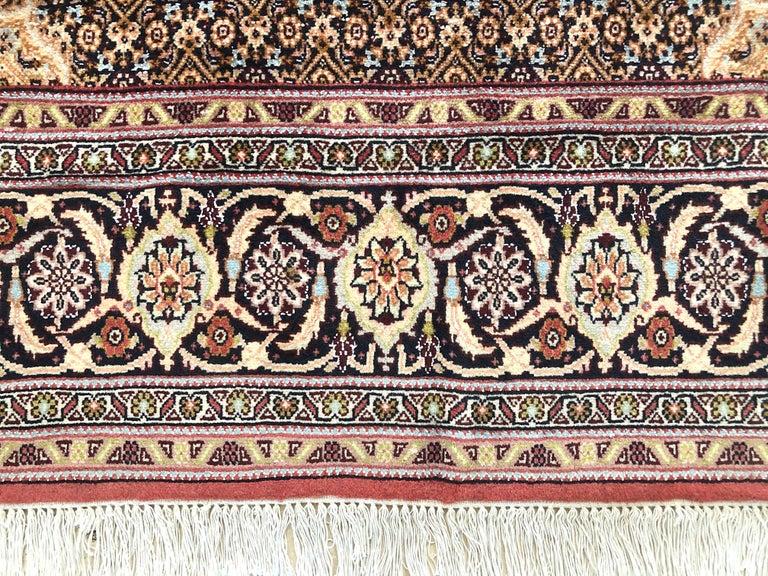 Persian Hand Knotted Fish Design Bijar Bidjar Rug For Sale 5