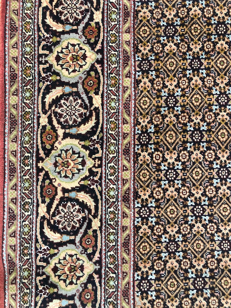 Persian Hand Knotted Fish Design Bijar Bidjar Rug For Sale 6