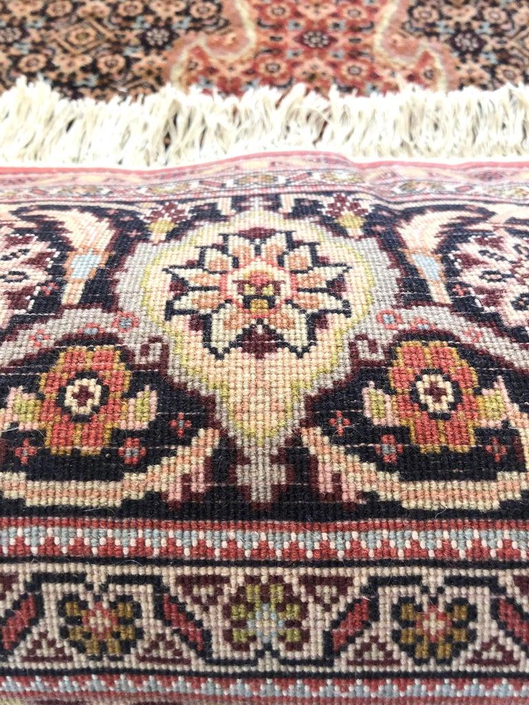 Persian Hand Knotted Fish Design Bijar Bidjar Rug For Sale 8
