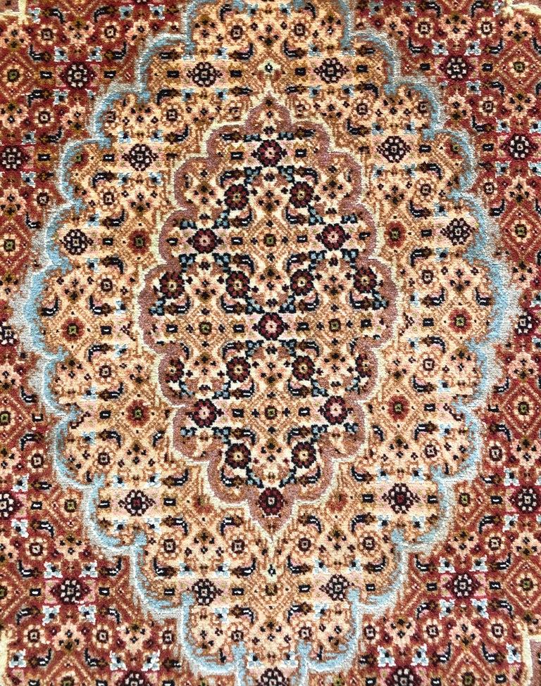 Persian Hand Knotted Fish Design Bijar Bidjar Rug In Good Condition For Sale In San Diego, CA