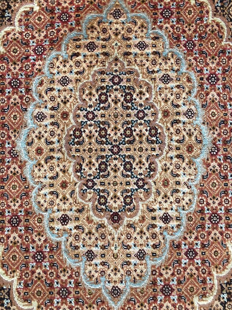 Late 20th Century Persian Hand Knotted Fish Design Bijar Bidjar Rug For Sale