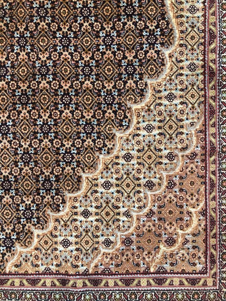 Wool Persian Hand Knotted Fish Design Bijar Bidjar Rug For Sale