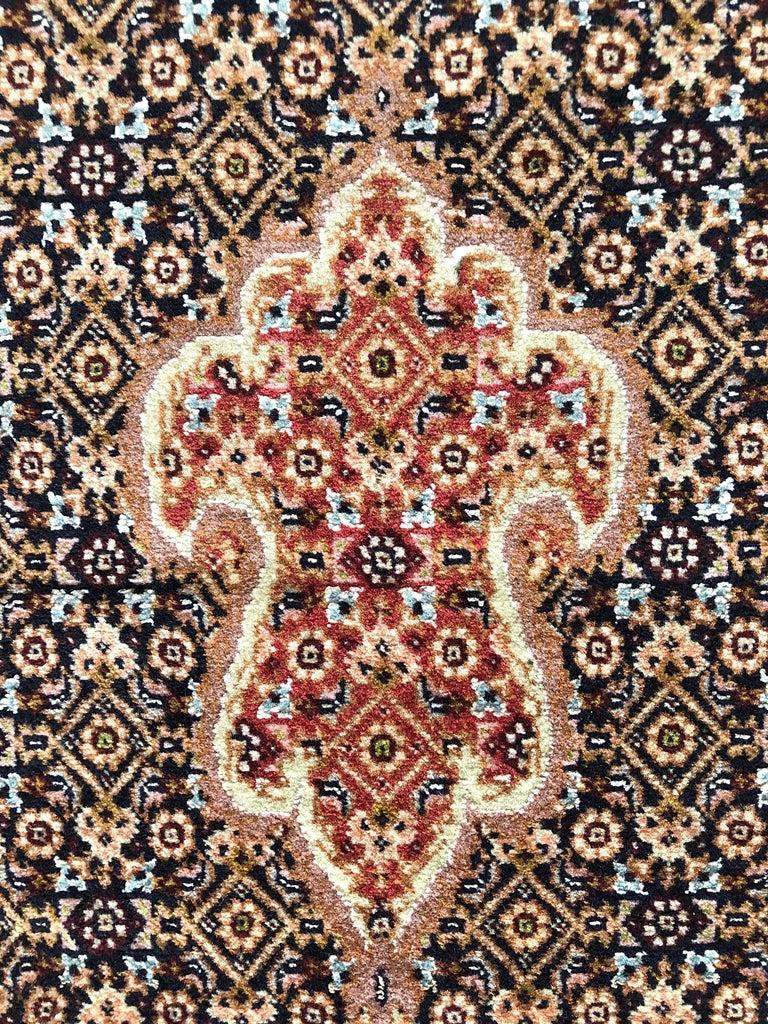 Persian Hand Knotted Fish Design Bijar Bidjar Rug For Sale 1