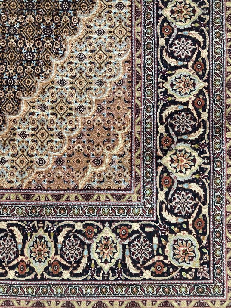 Persian Hand Knotted Fish Design Bijar Bidjar Rug For Sale 3