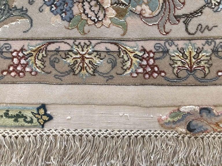 Persian Hand Knotted Medallion Floral Nouvinfar Design Tabriz Rug For Sale 14