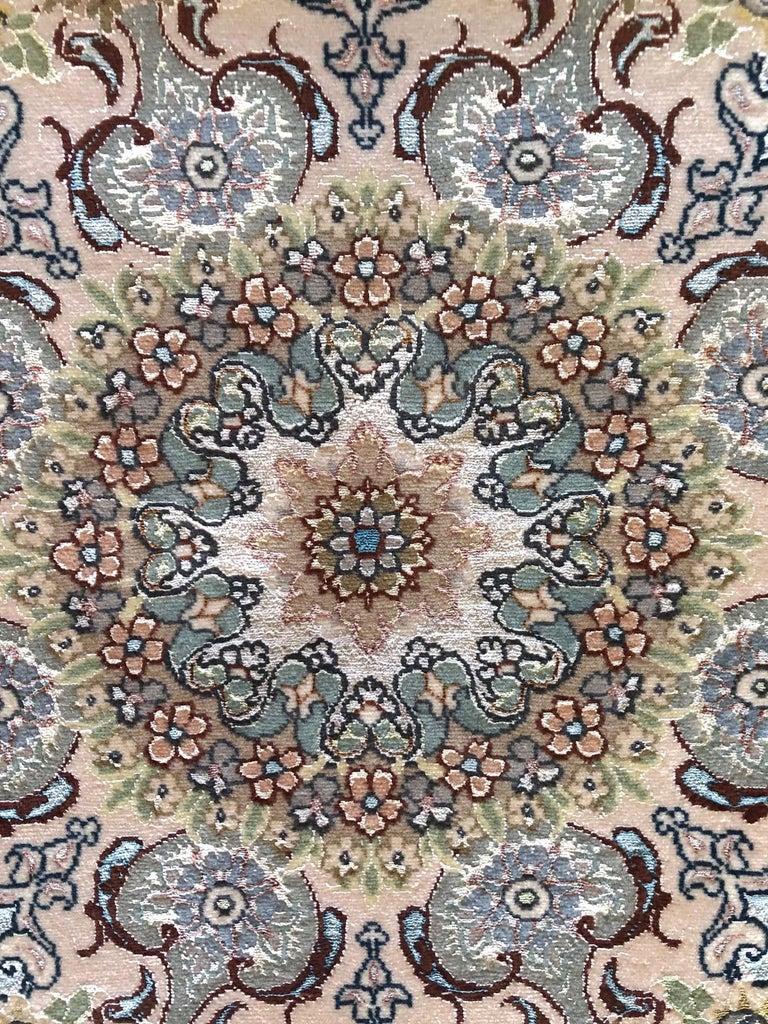 Contemporary Persian Hand Knotted Medallion Floral Nouvinfar Design Tabriz Rug For Sale
