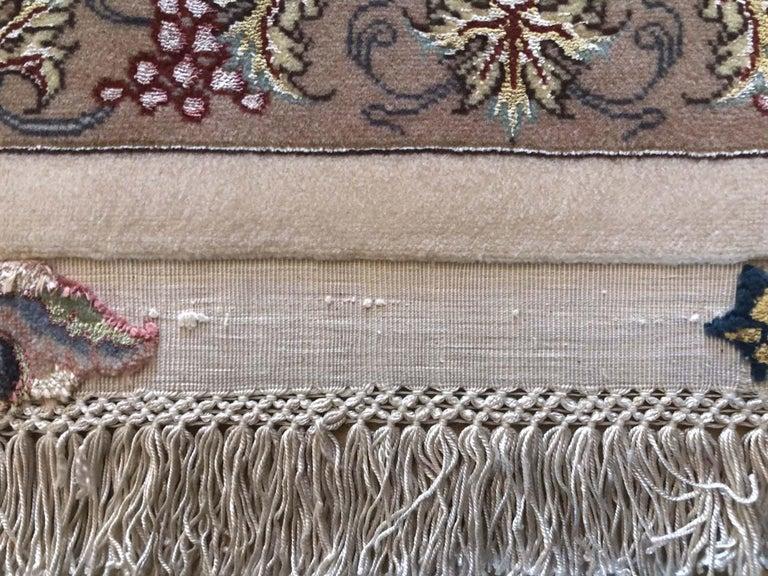 Persian Hand Knotted Medallion Floral Nouvinfar Design Tabriz Rug For Sale 2