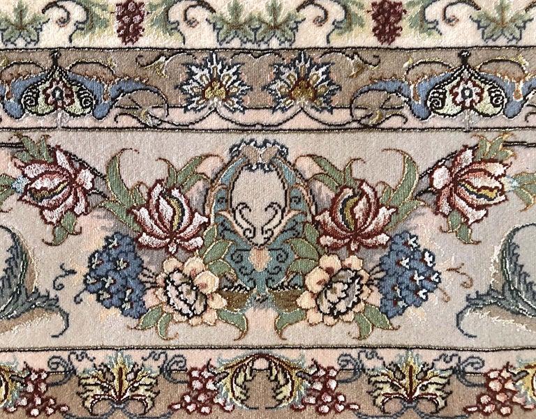 Persian Hand Knotted Medallion Floral Nouvinfar Design Tabriz Rug For Sale 3