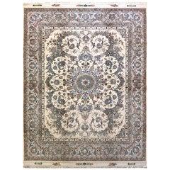 Persian Hand Knotted Medallion Floral Nouvinfar Design Tabriz Rug