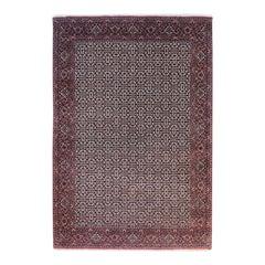 Persian Hand Knotted Red All-Over Bijar Bidjar Rug