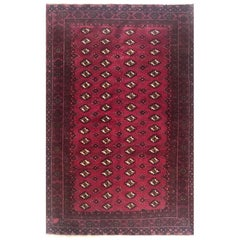 Persian Hand Knotted Red All-Over Elephant Print Baluch Rug, circa 1970