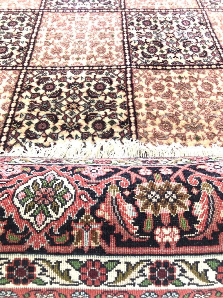 Persian Hand Knotted Red Cream Panel Design Bijar 'Bidjar' Rug For Sale 1