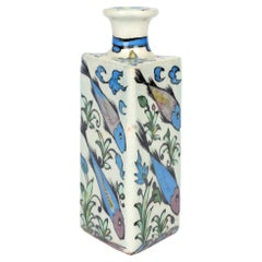 Persian Hand Painted Earthenware Vase with Fish