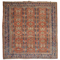 Persian Heriz Room Size Antique All-Over Design 20th Century Rug