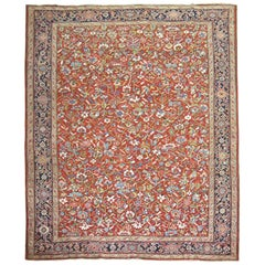 Persian Heriz Room Size Antique Persian 20th Century Rug