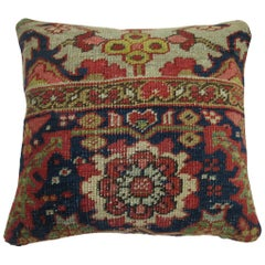 Persian Heriz Serapi Rug Pillow