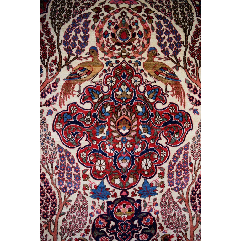Vegetable Dyed Persian Isfahan Tree of Life Carpet, circa 1890-1900 For Sale