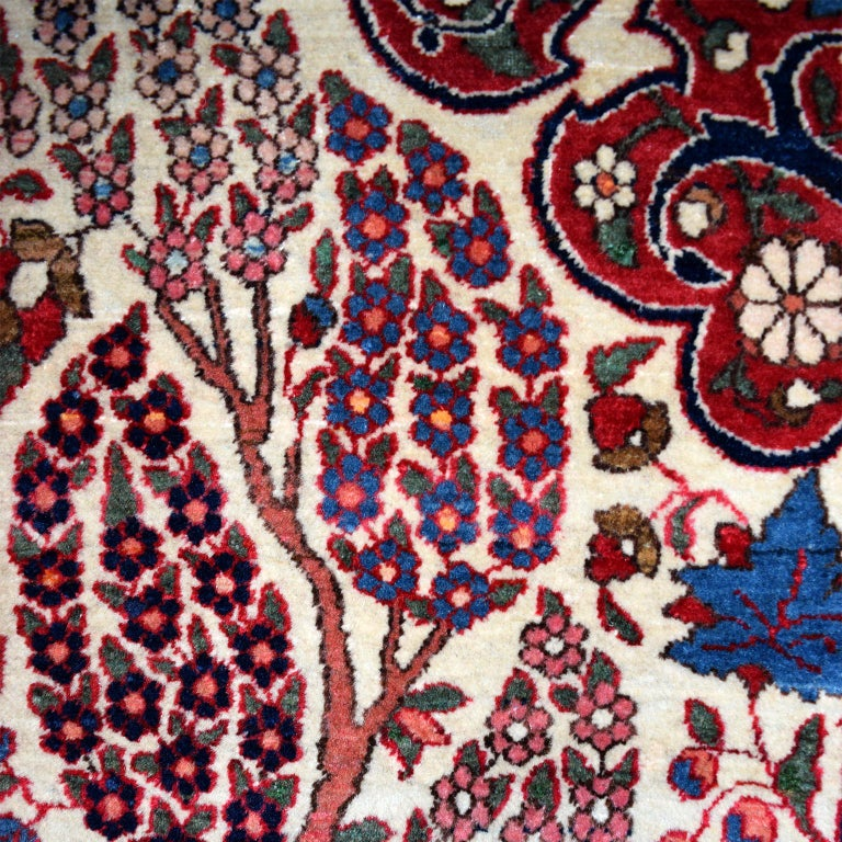 Late 19th Century Persian Isfahan Tree of Life Carpet, circa 1890-1900 For Sale