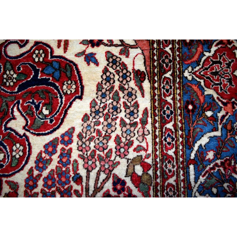 Wool Persian Isfahan Tree of Life Carpet, circa 1890-1900 For Sale