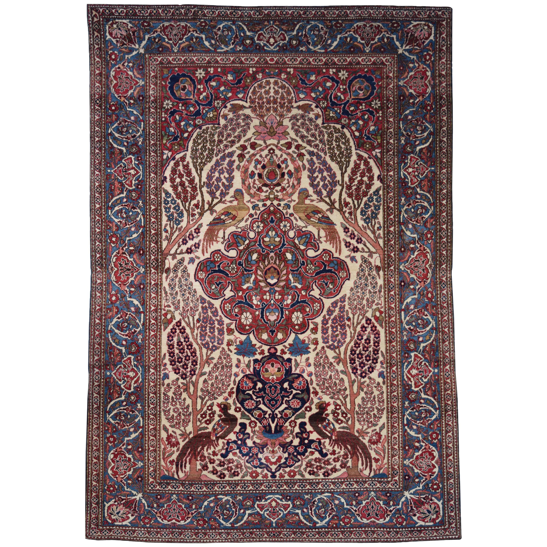 Persian Isfahan Tree of Life Carpet, circa 1890-1900