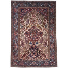 Persian Isfahan Tree of Life Carpet, circa 1890-1900