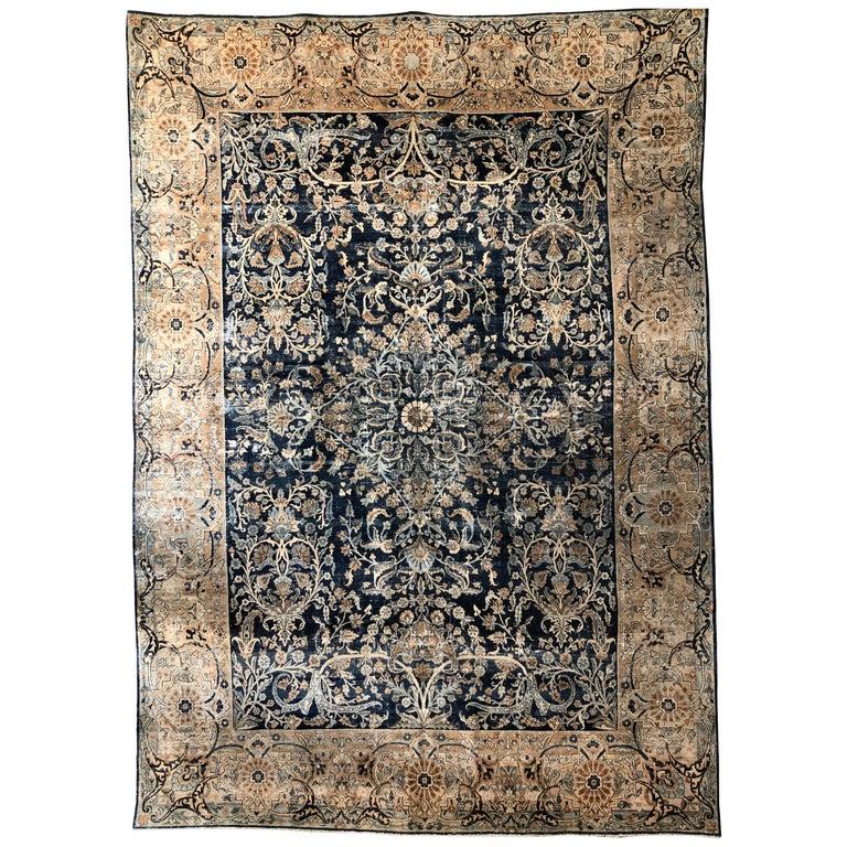Antique Persian Kashan Rug For Sale