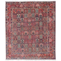 Persian Large Bakhtiari Rug with All-Over Garden Design