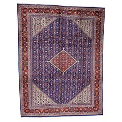 """Persian Mahal Full Pile Thick and Plush Hand Knotted Oriental Rug, 9'5"""" x 12'0"""""""