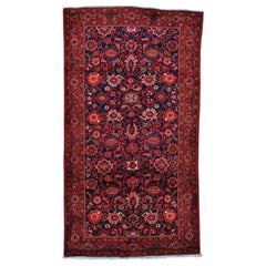 Persian Mahal Wide Runner Pure Wool Hand Knotted Oriental Rug