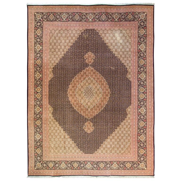 Persian Mahi Tabriz Rug For Sale At 1stdibs