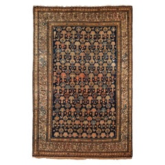 Persian Malayer Carpet circa 1900 in Pure Handspun Wool and Vegetable Dyes