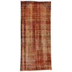 Persian Malayer Overdyed Vintage Hand Knotted Wide Runner Rug