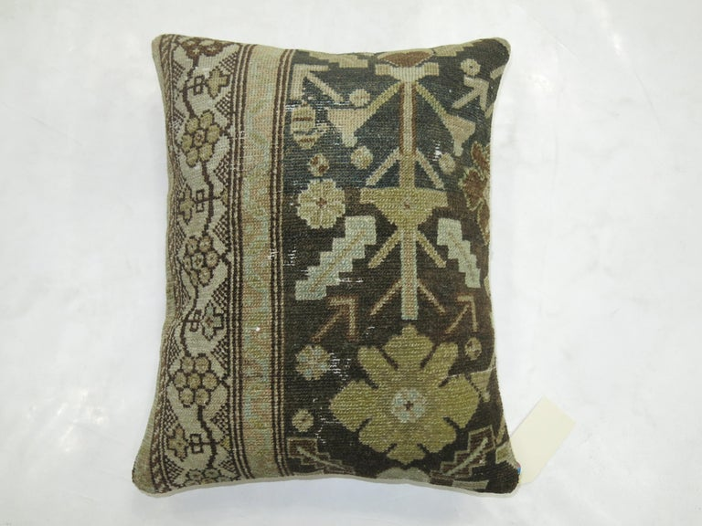 Hand-Woven Persian Malayer Rug Pillow For Sale