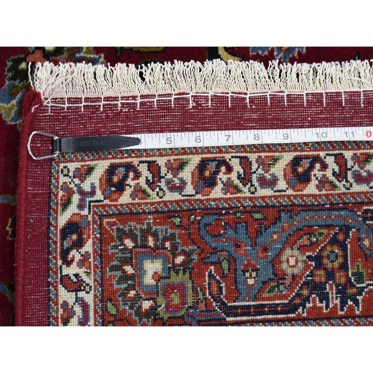 Persian Mashad 300 Kpsi High Quality Oversize Hand Knotted Rug For Sale 4