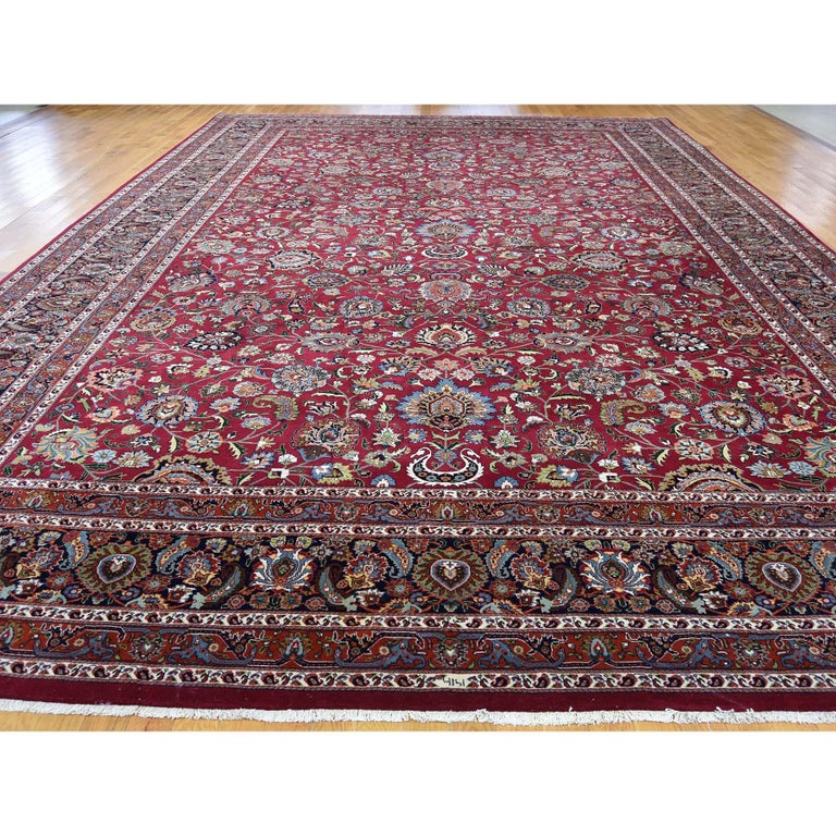 Other Persian Mashad 300 Kpsi High Quality Oversize Hand Knotted Rug For Sale