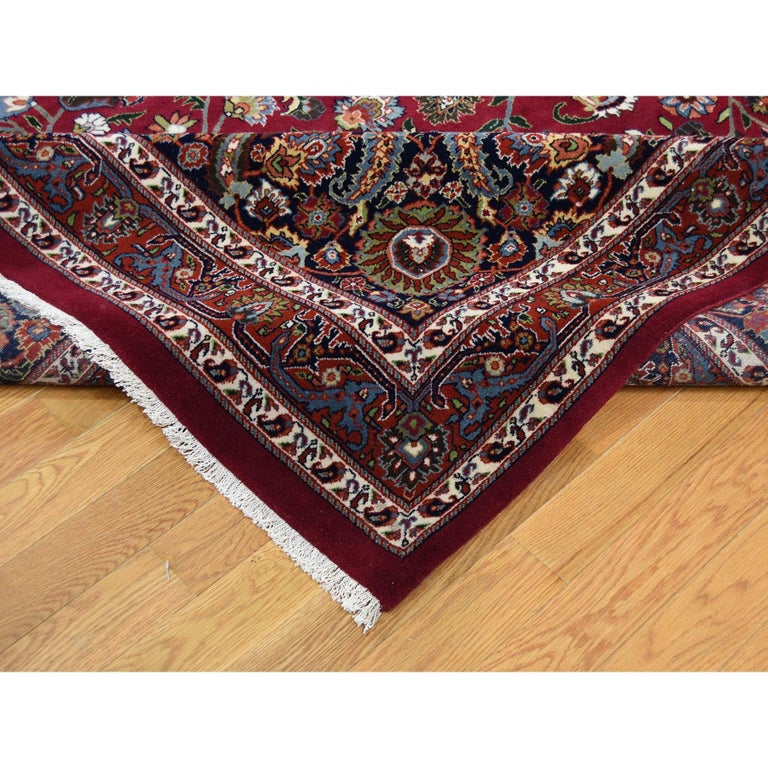 Contemporary Persian Mashad 300 Kpsi High Quality Oversize Hand Knotted Rug For Sale