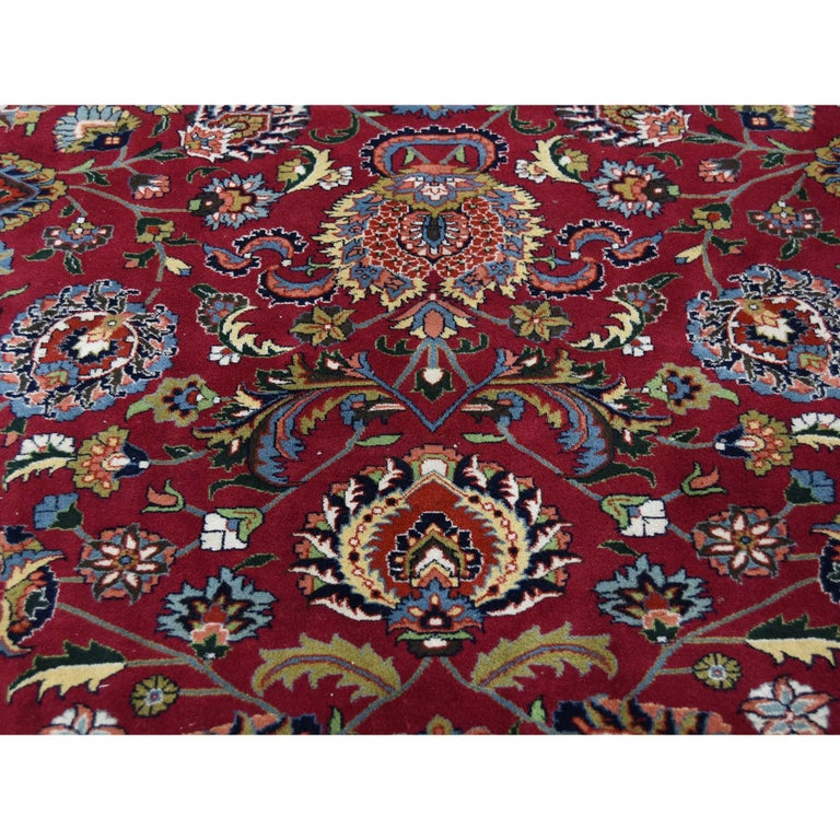 Persian Mashad 300 Kpsi High Quality Oversize Hand Knotted Rug For Sale 1