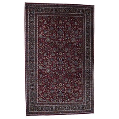 """Persian Mashad 300 Kpsi High Quality Oversize Hand-Knotted Oriental Rug, 12'0"""" x"""