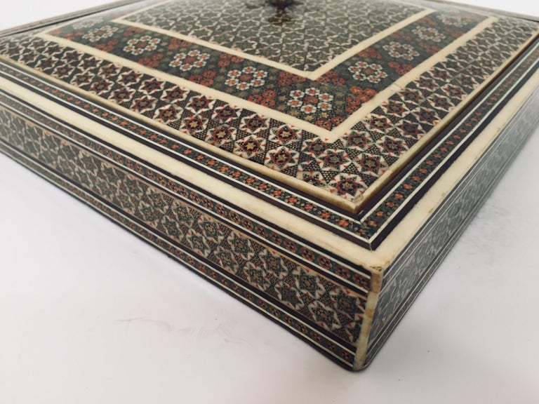 Persian Micro Mosaic Inlaid Jewelry Box For Sale 4